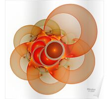 'Light Flame Abstract 135' Poster
