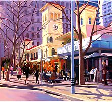 North Sydney Winter Lunchtime by Guntis Jansons