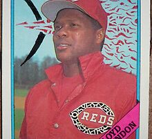 015 - Lloyd McClendon by Foob's Baseball Cards