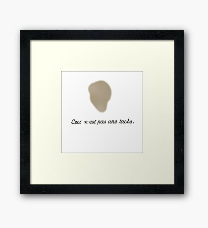 The Treachery of Images (This is not a stain) Framed Print