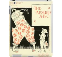 The Mother Hubbard Picture Book by Walter Crane - Plate 49 - The Absurd ABC iPad Case/Skin