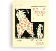 The Mother Hubbard Picture Book by Walter Crane - Plate 49 - The Absurd ABC Canvas Print