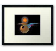 'Light Flame Abstract 124' Framed Print