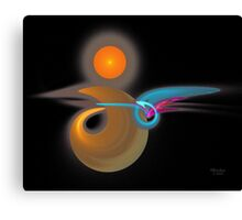 'Light Flame Abstract 124' Canvas Print