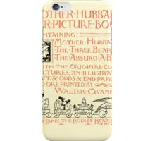 The Mother Hubbard Picture Book by Walter Crane - Plate 05 - Her Picture Book and Containing iPhone Case/Skin