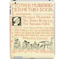 The Mother Hubbard Picture Book by Walter Crane - Plate 05 - Her Picture Book and Containing iPad Case/Skin