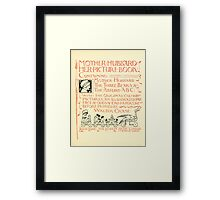 The Mother Hubbard Picture Book by Walter Crane - Plate 05 - Her Picture Book and Containing Framed Print