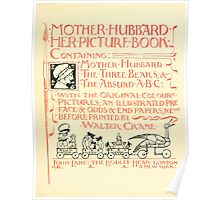 The Mother Hubbard Picture Book by Walter Crane - Plate 05 - Her Picture Book and Containing Poster
