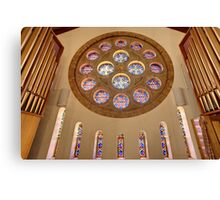 St. Christopher's Stain Glass Canvas Print