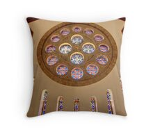 St. Christopher's Stain Glass Throw Pillow