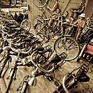 Becaks and Bicycles - Yogyakarta, Indonesia by Stephen Permezel