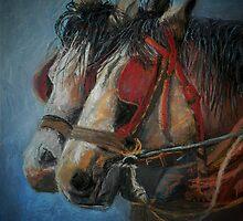 Draft horses.............Flo and Joe by Sandra  Sengstock-Miller