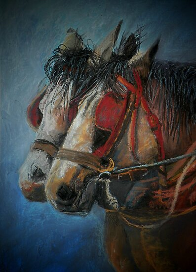 Draft horses.............Flo and Joe by Sandra  Sengstock-Miller