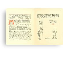 The Mother Hubbard Picture Book by Walter Crane - Plate 06 - Preface and Friends Canvas Print