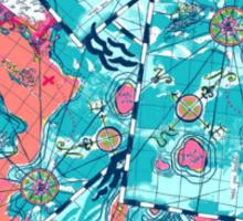 Lilly Pulitzer Maps Sticker