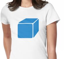 Blue cube Womens Fitted T-Shirt