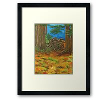 Fallen Giant Framed Print