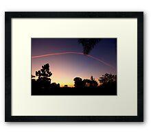 Sunset Contrail Framed Print