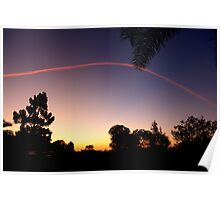Sunset Contrail Poster