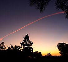 Sunset Contrail 2 by Matthew Smith