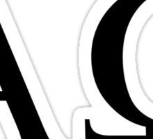 Alpha omega Sticker