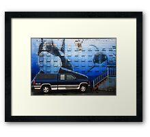 the deep blue (gm)sea Framed Print