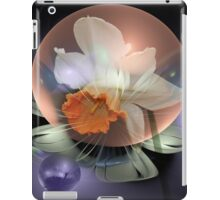 Daffodil in a water bubble iPad Case/Skin