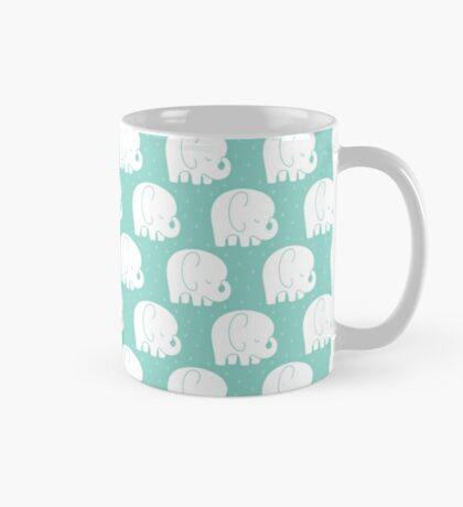 mod baby elephants mint Mug