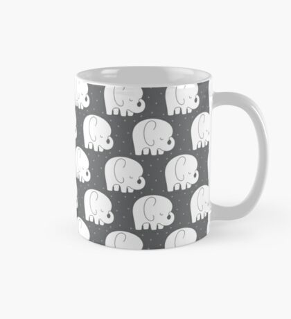 mod baby elephants grey Mug