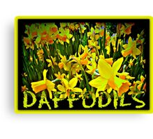 DAFFODILS ARTWORK Canvas Print
