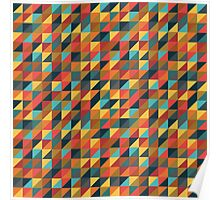 Colorful Triangle Pattern Poster