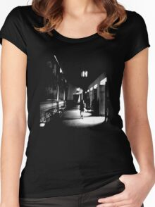 She Walks the Halls Women's Fitted Scoop T-Shirt