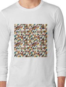 Colorful Triangle Pattern Long Sleeve T-Shirt