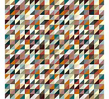 Colorful Triangle Pattern Photographic Print