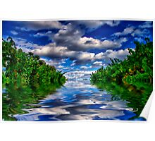 Flooded Vineyard Poster