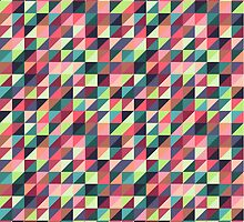 Colorful Triangle Pattern by kennasato