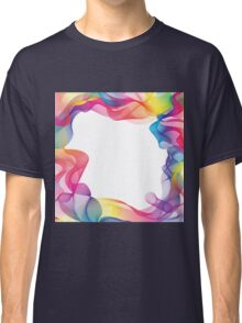 Rainbow Ribbons Background Classic T-Shirt