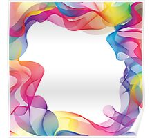 Rainbow Ribbons Background Poster