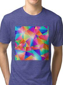 Colorful Shapes Background. Tri-blend T-Shirt
