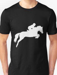 Horse Jumper Design in White T-Shirt