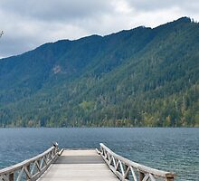 Dock on Lake Crescent, Washington State by The Accidental Farmers