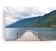 Dock on Lake Crescent, Washington State Canvas Print