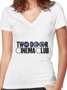 Two Door Cinema Club Perspective Women's Fitted V-Neck T-Shirt