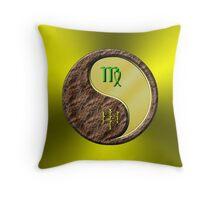 Virgo & Monkey Yang Metal Throw Pillow