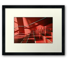 red stairs Framed Print