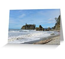 Ruby Beach, Olympic Peninsula, Washington State Greeting Card