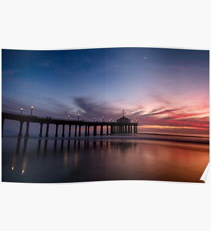 Manhattan Beach Sunset #4 Poster
