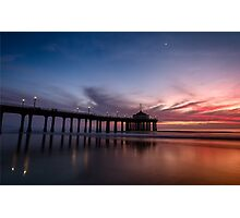 Manhattan Beach Sunset #4 Photographic Print