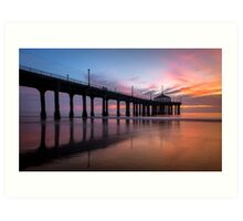 Manhattan Beach Sunset #3 Art Print