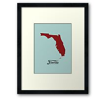 Florida - States of the Union Framed Print
